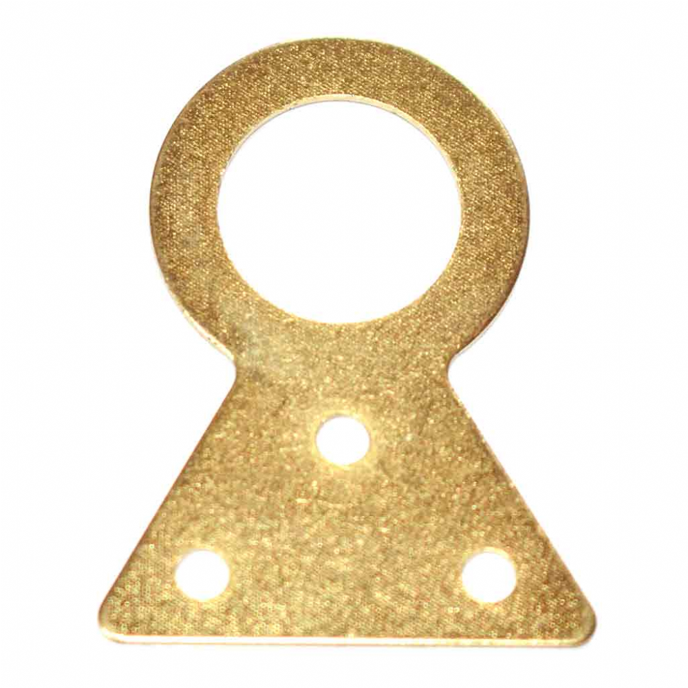 Clock or Barometer Hanging Plate (37mm) - Brass Plated